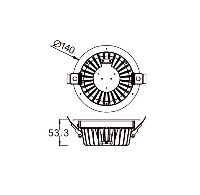 ĐÈN LED DOWNLIGHT ÂM TRẦN CHỐNG ẨM SVC-15125C