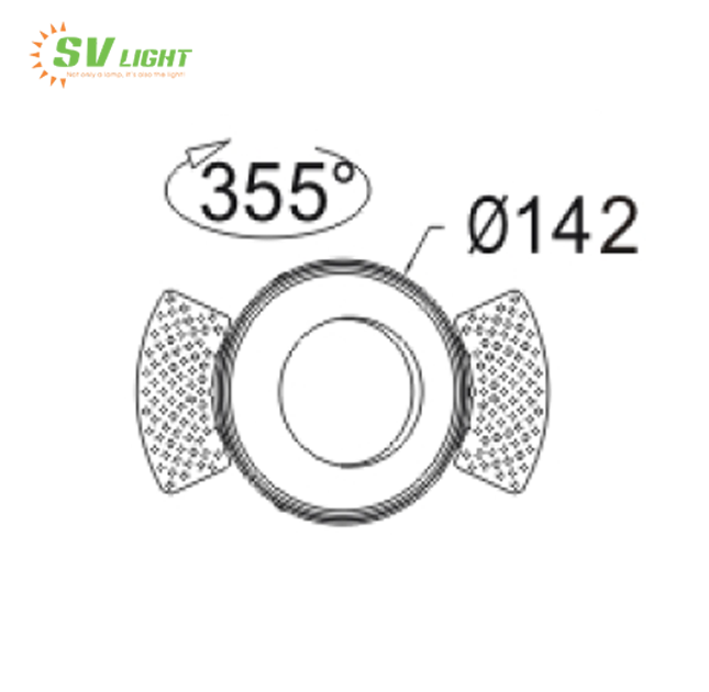 Đèn Led Spotlight 38W,42W SVC-3842K