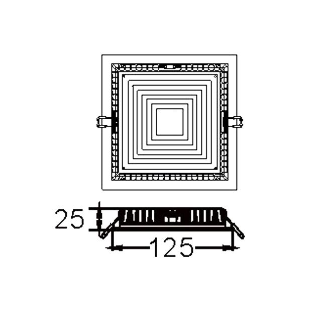 ĐÈN LED DOWNLIGHT ÂM TRẦN VUÔNG 8W SVC-811110V