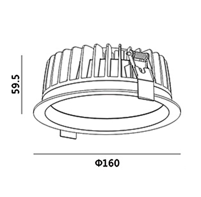 ĐÈN LED DOWNLIGHT ÂM TRẦN 15W SVF-3005