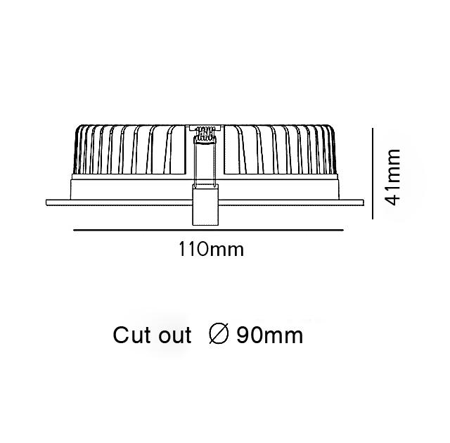 ĐÈN LED DOWNLIGHT ÂM TRẦN 9W SVN-0990L-D